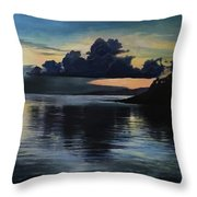 Last Look At Lusias Lagoon Throw Pillow