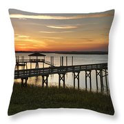 Last Look At The River Throw Pillow