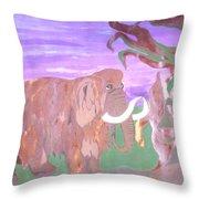 Last Mammoth Throw Pillow