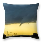 Last Nebraska Supercell Of The Summer 036 Throw Pillow