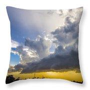 Last Nebraska Supercell Of The Summer 043 Throw Pillow