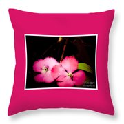 Last Of The Pink Dianthus Flowers Throw Pillow