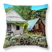 Last Post Office And Ice House Throw Pillow