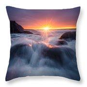 Last Rays Throw Pillow