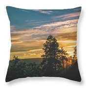 Last Rays Of Sunday Throw Pillow