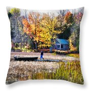 Last Ride Of The Season Throw Pillow