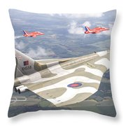 Last Royal Escort - Avro Vulcan Throw Pillow