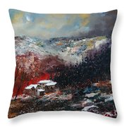 Last Snow Throw Pillow