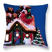 Last Stop For Santa Throw Pillow