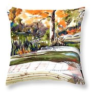 Last Summer In Brigadoon Throw Pillow