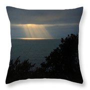 Last Sunbeams Of The Day Throw Pillow