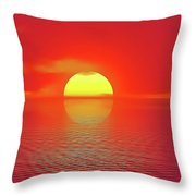 Last Sunset Throw Pillow