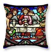 Last Supper, Brussels Throw Pillow