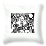 Last Supper...see You Later My Friends... Throw Pillow