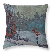 Last To Leave Throw Pillow