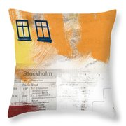 Last Train To Stockholm- Art By Linda Woods Throw Pillow