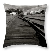 Last Train Track Out Throw Pillow