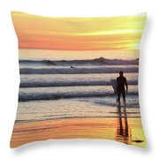 Last Wave Of The Day Throw Pillow