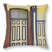 Late 1800s Door Throw Pillow