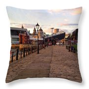 Late Afternoon At Albert Dock Throw Pillow