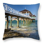 Late Afternoon At Kamalame Cay Throw Pillow