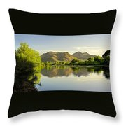 Late Afternoon At Rio Verde River Throw Pillow