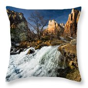 Late Afternoon At The Court Of The Patriarchs Throw Pillow