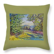 Late Afternoon Shadows Throw Pillow