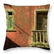 Late Afternoon Stroll Through Legnano Throw Pillow