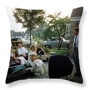 Late Afternoon Summer Party Throw Pillow