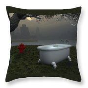 Late At Night... - Tard Le Soir... Throw Pillow