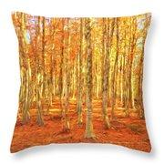 Late Autumn In Calabria Throw Pillow