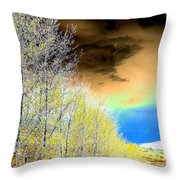 Late Autumn Throw Pillow by Will Borden