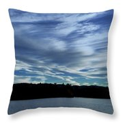 Late Day Clouds Over Mountainss Throw Pillow