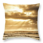 Late Day Rays Throw Pillow