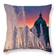Late Evening At The Amalie Garden Throw Pillow