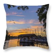 Late Evening On The Cove Throw Pillow