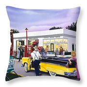 Late For The Prom Throw Pillow