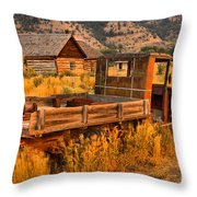 Late For The Rush Throw Pillow