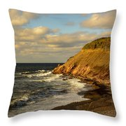 Late In The Day In Cheticamp Throw Pillow