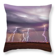 Late July Storm Chasing 086 Throw Pillow