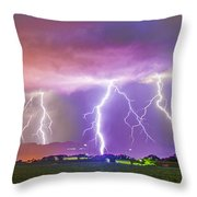 Late July Storm Chasing 087 Throw Pillow