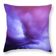 Late Night Nebraska Shelf Cloud 001 Throw Pillow