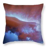 Late Night Nebraska Shelf Cloud 007 Throw Pillow