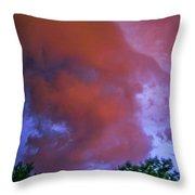 Late Night Nebraska Shelf Cloud 011 Throw Pillow
