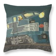 Late Night On The New York Central Throw Pillow