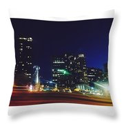 Late Night Seattle  Throw Pillow
