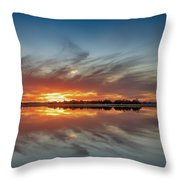 Late November Reflections Throw Pillow
