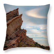 Late On Vasquez Rocks By Mike-hope Throw Pillow