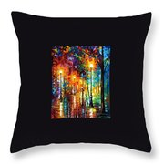 Late Stroll Throw Pillow